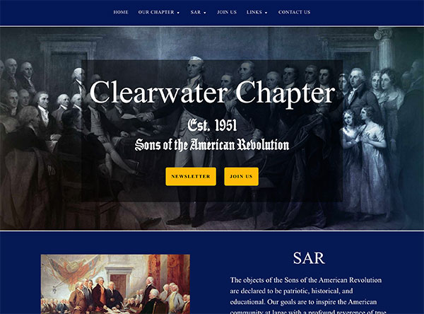 SAR Clearwater Chapter - website
