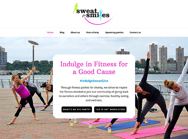 Sweat for Smiles - website