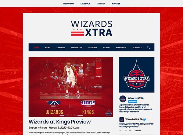 Wizards XTRA - website