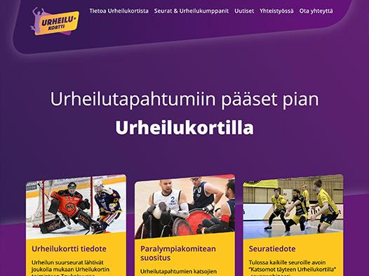 Urheilukortti (Sports Card) - website